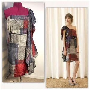 Max Azria (BCBG) silk one shoulder dress. NWOT